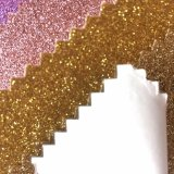 Hot Melt Glue Glitter PU Leather for Garment Label Print Hw-1775