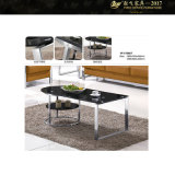 Manufacturer Direct Price Round Coffee Table with Glass (YF-170069T)