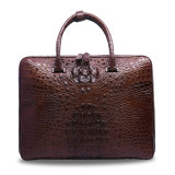 Men Genuine Leather Bag Crocodile Men′s Business Laptop Briefcase