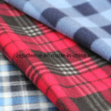 Check Print Polar Fleece with Two Side Brushed