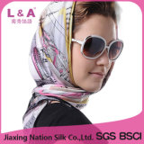 Multicolor 100% Silk Satin 90*90cm Big Square Scarf
