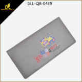 Long Size Western Cute Leather Man Wallet with Silk Printing
