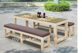 Patio Garden Aluminum PE Rattan Bar Set for Outdoor Rattan Dining Furniture