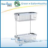 Double Layer Stainless Steel Bathroom Corner Shelf in Bathroom Accessories