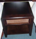 Wooden Mindi Nightstands 2 Drawers Retro Style
