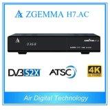 ATSC+2*DVB-S2X Tuners 4k Uhd Kodi Box Zgemma H7. AC Linux OS E2 Sat Receiver for America/Canada Channels