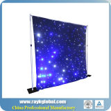 White and Black Concert Background Cloth Light LED Star Curtain