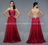 Backless Red Evening Dresses Lace Sweetheart Sexy Prom Dresses Ht819