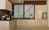 New Modern White Kitchen Cabinet with PVC Design (ZS-266)