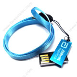 Mini Swivel USB Flash Driver with Lanyard (UM01B)