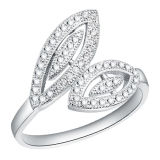 Plated 18k White Gold Micro Setting 925 Silver Ring Jewelry