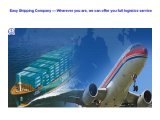 One-Stop Consolidate Logistics Service From Local China to Europe