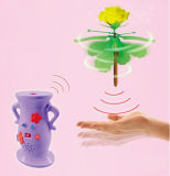 Hand Induced Spinning Rose Helicopter Toy