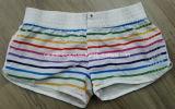 Oeko-Tex Flat Waist Polyester Striped Lady Board Short Swimwear