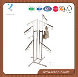 4 Way Handbag Display Rack with 8 Waterfall Arms