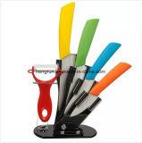 Kitchenware High Quality 5PCS Color Ceramic Knife Set
