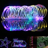 12m 100 LEDs Solar Power Rope Tube Strip Lights, IP68 Waterproof Outdoor Rope Lights for Outdoor