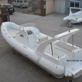 Liya 8.3m 250HP Outboard Motor Boat Fiberglass Hull Inflatable Boat