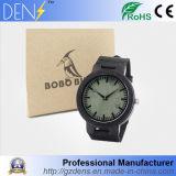 Wooden Bobo Bird Analog Quartz Mens Sport Waterproof Wrist Watch