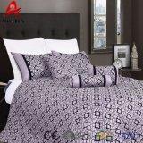 Wholesale Bright Colored Comforter Set, 7PCS Flock Pringting Comforter Set
