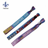 Custom Polyester Festival Fabric Woven Wristband for Events