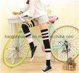 Fancy Comfortable Tube Women Combed Cotton Socks