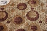 Circle Design Brown Chenille Upholstery Fabric (FTH31111)