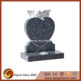 China Black Granite Heart Shaped Headstone/Tombstone