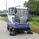 Electric Self-Propelled Leaf Sweeper with Cabin