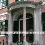 Porch Decoration Marble Columns Solid Pillars