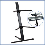 Professional 2 Tier Column Aluminum Keyboard Stand