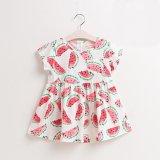Cute Flower Girl Children′s Short-Sleeved Dress