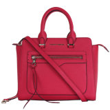 New Arrival Hot Pink Genuine Leather Fashion Designer Lady Handbags (CG9040)