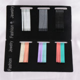 Fashion Jewelry 30 Pieces Card Packed Colorful Metal Hairpins (JE1019)