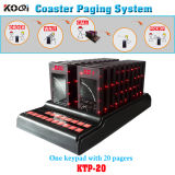 Wireless Slim Queue Coaster Pager System