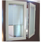 Double Glazed Aluminium Swing Window Wth Internal Louver (TS-1128)