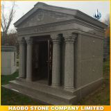 Custom Design Cheap 6 Cypts Mausoleum with Carved Statue