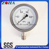 OEM 4 Inch All Ss Pressure Meter Bottom Connection Hot Selling and Custom Made with Accuracy 1.0%