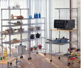 2015 Hot Sell 36X18 Inch 3 Layer Stainless Steel Shelf for Storage with Wheels (YB-WS049)