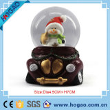 Xmas Decoration Polyresin Gift Snow Globe
