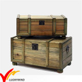 Solid Wood Large Size Trunk in Natural Color for Reorganizing