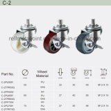 PU Rubber Wheel Thread Stem Top Industrial of Caster (C-2)
