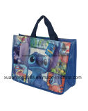 Customized Foldable Laminated Eco Fabric Tote Non Woven Shopping Bag