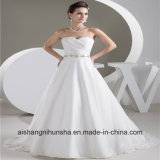 Luxury Robe Marriage Wedding Dress A-Line Perfect Strap Wedding Gown