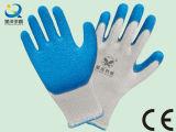 10 Gauge Cotton Liner Latex Coated Safety Work Gloves (L050)