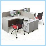 Modern Big Size Office Furniture L Shape Office Desk 2 Seat Office Workstation