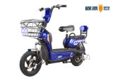 Commuter Smart Electric Bicycle with Front Basket Rear Seat Back Rest