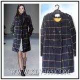 Hot Sale Women Fashion Designer Winter Wool Long Jacket