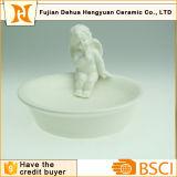 Angel Ceramic Soap Dish Holder for Bathroom Decoration