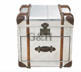 American Retro Industrial Steamer Chest Trunk